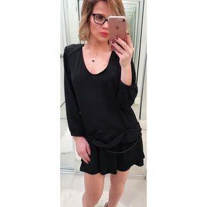 IRO Black Chain Detail Mini Dress